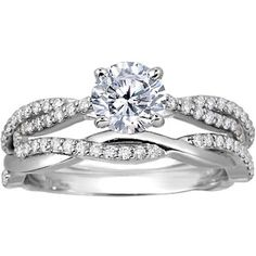 18K White Gold Twisted Vine Matched Set   This beautiful nature-inspired pair of rings features delicate strands of diamonds twisting together to create two stunning bands.  Metal:18K White Gold  Price: $2,720