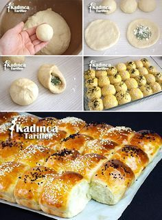 Peynirli Pamuk Poğaça Tarifi Delicious Cake Recipes, Yummy Cakes, Yummy Food, Bread And Pastries, Best Appetizers, Appetizer Recipes, Arabic Food, Turkish Recipes, Snacks