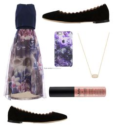 """""""Purple"""" by jennisa-penner on Polyvore featuring Chloé, Kendra Scott, NYX, women's clothing, women, female, woman, misses and juniors"""
