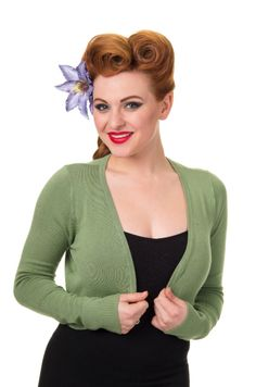 Trash Monkey ** BANNED - Flickers Cardigan in Vintage Green