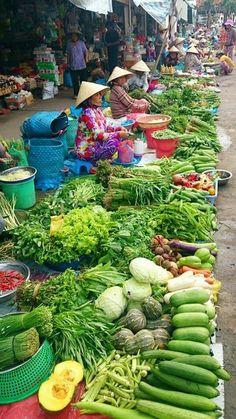 Mercado en Can Tho. Vietnam