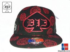 """D13 """"Black Pearl"""" features soft Asian style print on black with a flat bill and D13 branding on the sides... fortune cookie anybody?"""