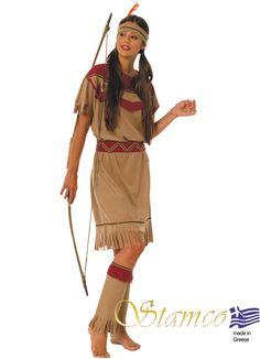 Γυναικεία Στολές Αποκριάτικες  Αγρια Δυση ΙΝΔΙΑΝΑ  ΚΑΦΕ