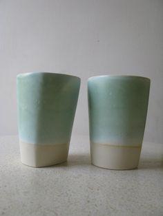Ceramic Beakers set of two van SimoneCeramics op Etsy
