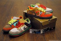 Nike SB What The Dunks 2x.