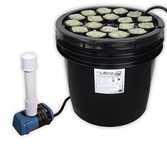 18 Site Aeroponic Plant Cloner, Seed and Strawberry Starting Machine - Pond tank air stone airstone and 5 five gallon bucket DIY