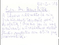 www.clinicabarchitta.it. Dear D. Barchitta, i wish thank you very much, i am sincerely satisfied! Thank you for such leads his Clinic, in a very professional manner and reassuring.