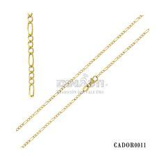 91cf07018e92 Cadena estilo 3x1 delgada ideal para los pequeños en oro de 14 Kts. ventas