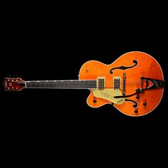 Gretsch G6120TLH Players Edition Nashville Left-Handed Electric Guitar Orange Stain | The Music Zoo