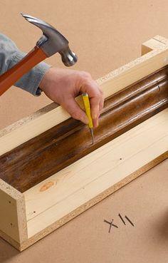 Add trim or other elements Concrete Edging, Concrete Forms, Concrete Cement, Concrete Crafts, Concrete Blocks, Diy Retaining Wall, Cinder Block Walls, Concrete Casting, Backyard Pavilion