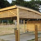 A project done by Urban Effects and Horowhenua District Council. Product used for this project includes a kiwi curved shelter (5.6m x 4m) made using treated H5 laminated pine posts and colour steel roof.   #urbaneffects #urbanfurniture #streetfurniture #outdoorfurniture #kiwicurvedshelter #kiwi #shelter