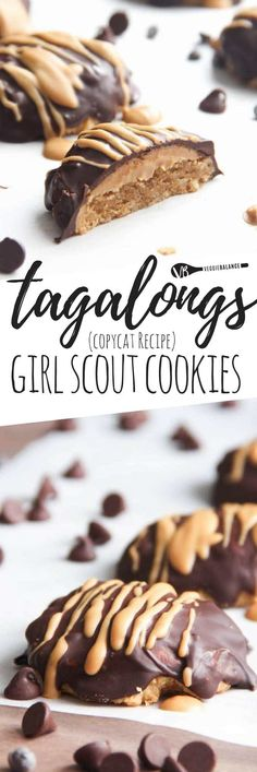 Tagalongs Girl Scout Cookies Copycat recipe offers a gluten-free twist on those classically addictive cookies. Gluten-free, Vegetarian, Dairy-Free friendly #recipe #glutenfreerecipes #GlutenFree #girlscouts #tagalongs #cookie #cookieart #peanutbutter #dairyfree
