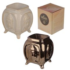 Embossed Buddha Ceramic Oil Burner Our range of oil burners covers a huge selection of designs and colours and, whether yo Essential Oil Burner, Essential Oils, Ceramic Oil Burner, Burner Covers, Oil Burners, Aroma Diffuser, Home Fragrances, Tea Light Holder, Pink Flamingos