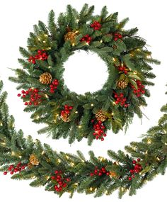Merry and bright, the Classic Holiday Christmas Wreath and Garland bring a festive atmosphere to your home. Whether they are hung on doorways or wrapped around a railing, these exceptionally beautiful wreaths and garlands are the perfect complement to your well-loved holiday decor. #TreeClassicsChristmas