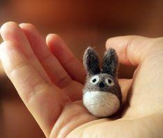 tiny felted totoro