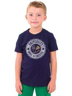 University Of Mac and Cheese - S/S Navy Kids T-Shirt