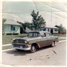 My 1st car. 56 Chevy bought for $150.00 & I drove it from Muncie Ind. to Santa Ana Ca. in 1969 down The Mother Road....
