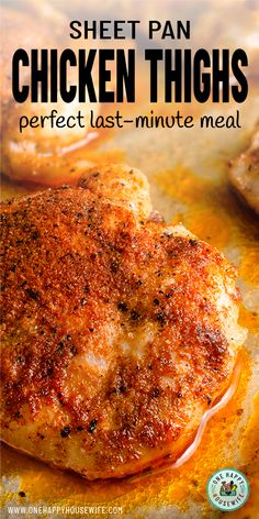 These simple Oven Roasted Chicken Thighs are the perfect last-minute meal. Super quick and easy to make and ready in about 15 minutes. More from my siteEasy Oven Roasted Chicken ThighsOven Baked Chicken Breasts Oven Roasted Chicken Thighs, Bake Chicken In Oven, Baked Boneless Chicken Thighs, Keto Chicken Thighs, Boneless Skinless Thigh Recipe, Skillet Chicken Thighs, Chicken Thigh Marinade, Chicken Thighs Dinner, Bone In Chicken Thighs