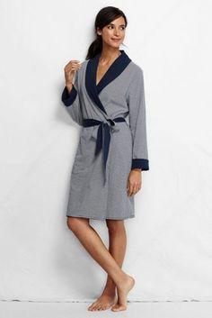 acf8d1efab Women s Jersey Stripe Reversible Robe from Lands  End Sleepwear Women