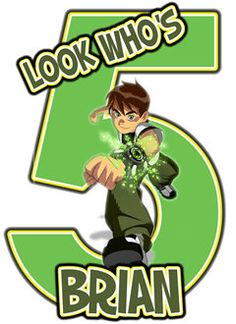 Ben 10 Birthday Party T Shirt Iron On Transfer OR DIY FILE Personalized