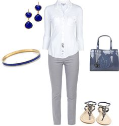 """""""A Day for Simple & Flats"""" by marcella-777 on Polyvore"""