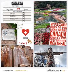 Canada digital scrapbooking layout created by Jenna featuring Project Mouse (World): Canada by Sahlin Studio and Britt-ish Designs