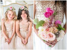 Flower Girls / Totally Gorgeous Glitter Blush Pink Gold South African Wedding / Adene Photography /
