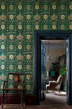 OFF RRP Buy Morris Archive IV The Collector Wallpaper. A wonderful collection of William Morris wallpapers influenced by Far East designs. William Morris Wallpaper, Morris Wallpapers, William Morris Tapet, Teal Wallpaper, Wallpaper Online, Print Wallpaper, Wallpaper Carousel, Wallpaper Decor