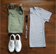 Shorts are modern piece of menswear that should be included in every man's wardrobe. Here is your men's short style inspiration guide - weekend style ideas. Casual Wear, Casual Outfits, Men Casual, Fashion Outfits, Mens Fashion, Summer Tomboy Outfits, Men's Outfits, Outfit Summer, Style Masculin
