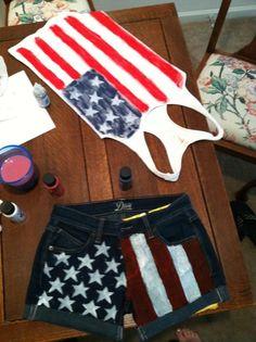 DIY 4th of July shorts and tank!