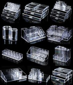 Acrylic Makeup Organizer Drawers. I want some so bad                                                                                                                                                                                 More