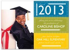 elementary 5th grade graduation announcement sample 2013