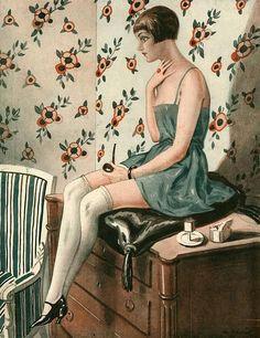 illustration by George Pavis La Vie Parisienne. Art Deco Illustration, Magazine Illustration, Belle Epoque, Art Deco Posters, Vintage Posters, Vintage Images, Vintage Art, Art Nouveau, Art Doodle
