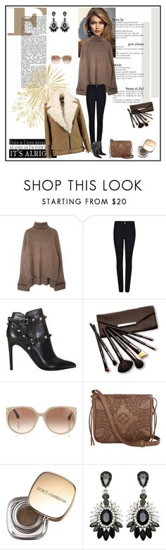 """Oversized Turtleneck Sweater"" by tjlillian ❤ liked on Polyvore featuring Armani Jeans, Valentino, Borghese, Tom Ford, T-shirt & Jeans, Dolce&Gabbana, IRO, StreetStyle and Sweater"