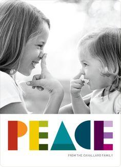Peace: Holiday Photo Card