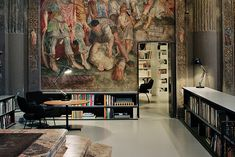 The Divine Office of Massimiliano Locatelli: Architect Massimiliano Locatelli converted a 16th-century church in Milan—complete with original frescoes, an altar and a crypt—into the perfect workspace for his growing firm. Featured in the WSJ Magazine March 2015