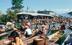 Ywama Floating Market in Inle Lake, Myanmar