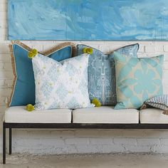 Lacefield Mineral Pillow Collection 2015  #southernmade #pompoms #applique #madeintheusa