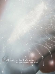 I held you in my hand, Wanderer, and you were so beautiful.