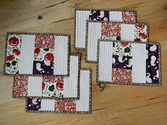 straight line quilting placemats