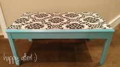 {white.house.diy}: DIY Fabric Table Top. Instructions for how to do this yourself!