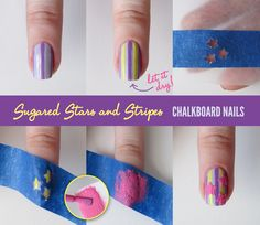 Chalkboard Nails: Sugared Stars and Stripes Tutorial