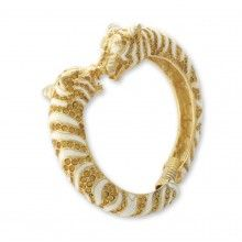 white and topaz tiger bracelet