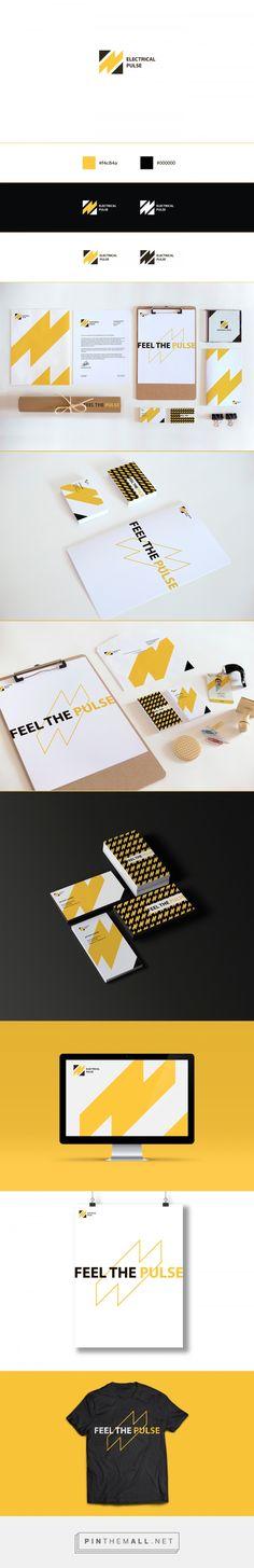 Electrical Pulse – Brand Identity on Behance … – corporate branding identity Branding Agency, Corporate Branding, Corporate Design, Brand Identity Design, Graphic Design Branding, Web Design, Design Poster, Brand Guidelines, Grafik Design