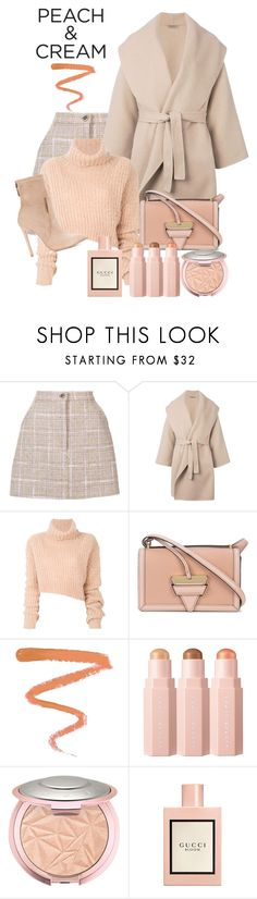 """She's A Peach:  Peach Lipstick"" by shamrockclover ❤ liked on Polyvore featuring beauty, Natasha Zinko, Bottega Veneta, Ann Demeulemeester, Loewe, Ellis Faas, Sephora Collection, Gucci, Gianni Renzi and polyvoreeditorial"