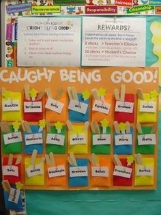 Classroom Management Idea - a fish bowl bulletin board could work great with this idea!