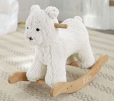 Sherpa Bear Rocker #pbkids  they don't make the sheep anymore, but I LOVE this guy too.  MUST HAVE for my baby's nursery