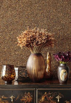 Wallcovering: Walden in Quail, 5003820. http://www.fschumacher.com/search/ProductDetail.aspx?sku=5003820 #Schumacher