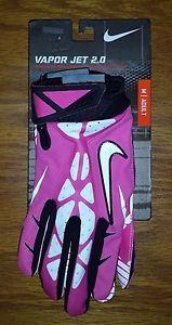 NEW Nike Vapor Jet 2.0 Football Gloves Breast Cancer Awareness Mens Medium M $45
