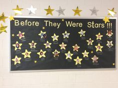 """Before They Were Stars"" This was used for an Oscar themed teach and staff appreciation week.  Pictures of teachers and staff from their childhood were used."